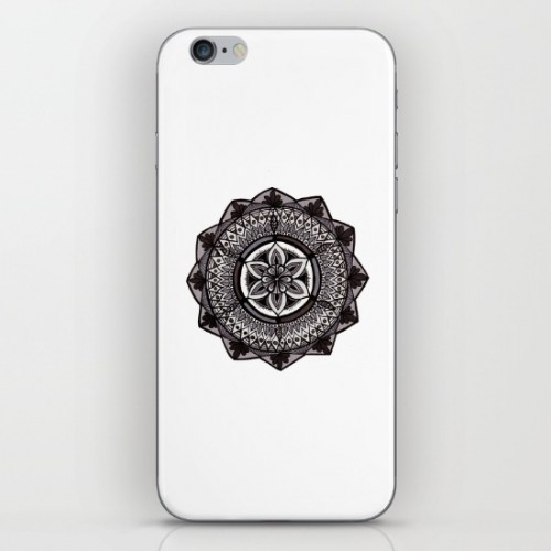 Shades of Grey Mandala iPhone skin available in my Society6 shop
