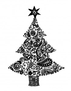 A zentangle Christmas tree