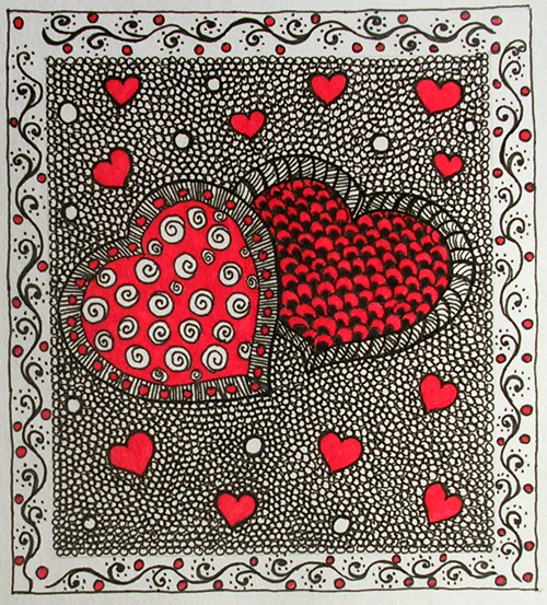 Valentine Zentangle Zendoodle Art Stuff