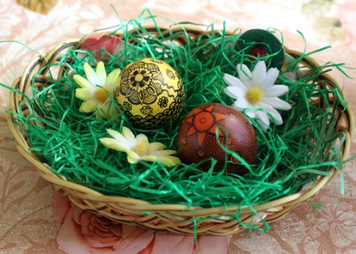 Zentangled Easter Eggs