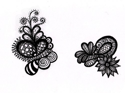 Black-and-white doodles