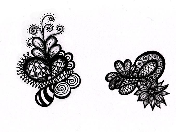 Random Black and white Doodles Zendoodle Art amp Stuff