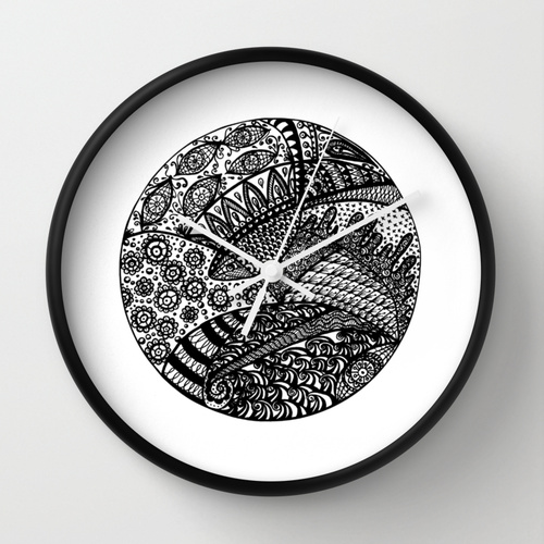 Fish Zendala Wall Clock