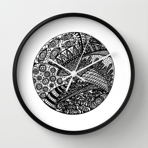 Fish Zendala Wall Clock