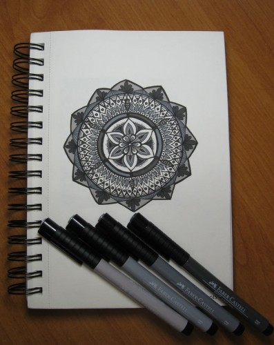 Shades of Grey Mandala